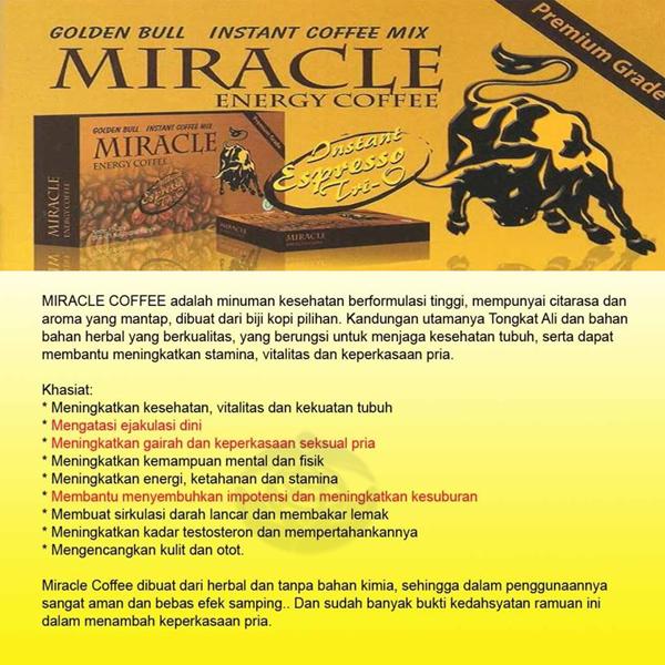Kopi Miracle Isi 12 Sachet ( Box )
