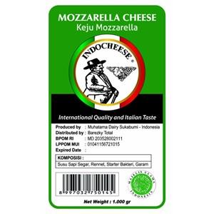 Keju Mozarella Indo Cheese 1000 Gram Kualitas Internasional Rasa Italia