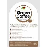 KOPI HIJAU SIAP MINUM - ROBUSTA COFFEE BEANS NATURAL AND HEALTHY 200 G 1