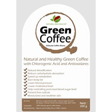 KOPI HIJAU SIAP MINUM - ROBUSTA COFFEE BEANS NATURAL AND HEALTHY 200 G