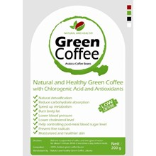 KOPI HIJAU SIAP MINUM - ARABICA COFFEE BEANS NATURAL AND HEALTHY 200