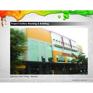 Cat Gedung Sekolah Nan Yang  By Mega Warna Lestari