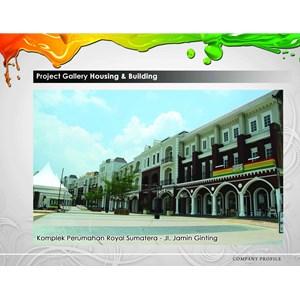 Cat Komplek Perumahan Royal Sumatera - Jl. Jamin Ginting