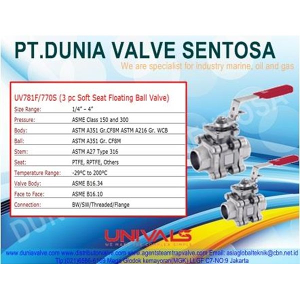 Ball Valve UNIVALS UV-781F