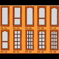 Glass Wooden Door Leaf 1