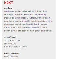Jual XLPE Insulated Kabel  N2XY 2