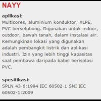 Jual Lapis Baja PVC Insulated Kabel Tembaga NAYY 2