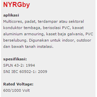 Jual Lapis Baja PVC Insulated Kabel Tembaga Nyrgby 2