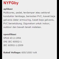 Jual Lapis Baja PVC Insulated Kabel Tembaga Nyfgby 2