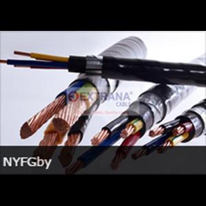 Lapis Baja PVC Insulated Kabel Tembaga Nyfgby