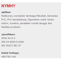 Jual Lapis Baja PVC Insulated Kabel Tembaga NYMHY 2
