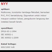 Jual Lapis Baja PVC Insulated Kabel Tembaga NYY 2