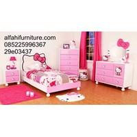 Jual Set Tempat Tidur Hello Kitty