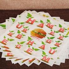 Kertas Burger Desain Custom