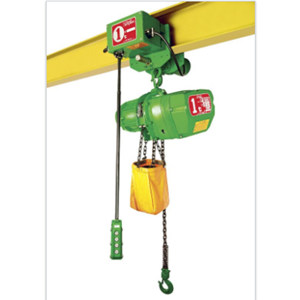 ELECTRIC CHAIN HOISTS C/W TROLLEYS