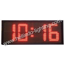 Outdoor Digital Clock Red