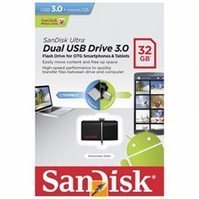 Sandisk Dual OTG USB Flash Drive USB 3.0 32GB