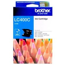 Tinta BROTHER LC400C Warna Cyan Original