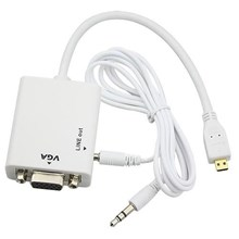 HD Conversion Cable Micro HDMI to VGA+ Audio