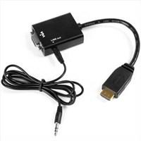 Jual HDMI to VGA Adapter + Audio (Kabel Konverter)