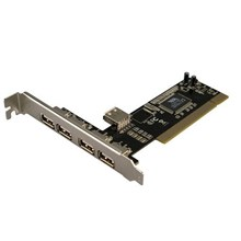 PCI Card USB 2.0 PCI Add-On Card 4+1 Port