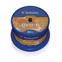 Jual VERBATIM 16x Speed DVD-R Blank 50 Pcs