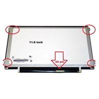 Jual LCD LED Laptop 11.6 Inch Slim 40 Pin.  Kuping Kiri Kanan