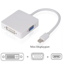 MINI DISPLAY PORT TO VGA DVI HDMI 3IN1 CONVERTER