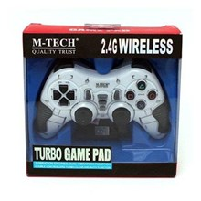 Gadget USB  GAMEPAD WIRELESS SINGLE 3 IN 1 TURBO MTECH ( PC+PS2+PS3)