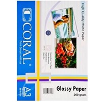 Kertas Photo Glossy Coral A3 260gsm