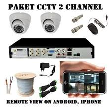 Paket Kamera CCTV 2 Kamera 1.3Mp