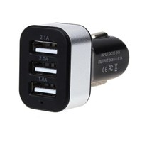 Jual Car charger USB 3 port 5.1A Chronos