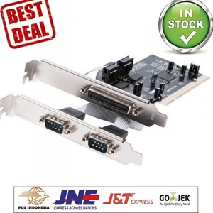 PCI  io Card  2 x SERIAL + 1 x PARALLEL port high quality speed