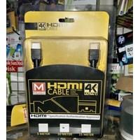 Kabel Hdmi V 1.4 Mdisk 10 Meter ( Hd 1080 - Gold Plate )