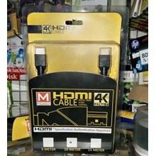 Kabel Hdmi V 1.4 Mdisk 10 Meter ( Hd 1080 - Gold P