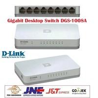 Jual Gigabit Switch Hub DLINK DGS-1008A 8-Port
