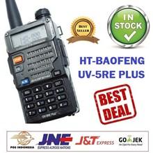 Ht Baofeng UV5R Terbaru UV5RE Plus Dual Band Walkie Talkie