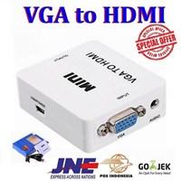 Beli CONVERTER  Konektor VGA TO HDMI WITH AUDIO BOX MINI 4