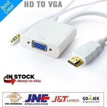CONVERTER HDMI TO VGA WITH AUDIO - KABEL HDMI TO VGA AUDIO