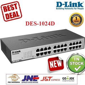 Sell Switch HUB DLINK DES-1024D 24 Port Fast Ethernet Desktop Rackmount  from Indonesia by PT FINEL COMPUTER,Cheap Price