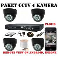 Jual Paket Kamera CCTV 4 Kamera 2 Mp
