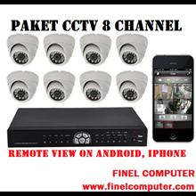 Paket Kamera CCTV 8 Kamera  2 Mp HD