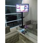 Floor Standing Bracket TV LCD kaki kupu kupu 1 Tiang 1