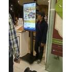 Floor Standing Bracket TV LCD kaki kupu kupu 1 Tiang 6