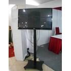 Floor Standing Bracket TV LCD kaki kupu kupu 1 Tiang 3
