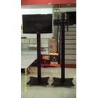 Floor Standing Bracket TV LCD kaki kupu kupu 1 Tiang 5