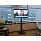 Floor Standing Bracket TV LCD kaki kupu kupu 1 Tiang 2