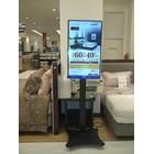 Floor Standing Bracket TV LCD kaki kupu kupu 1 Tiang 9