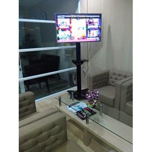 Floor Standing Braket TV LCD kupu kupu 1 Tiang