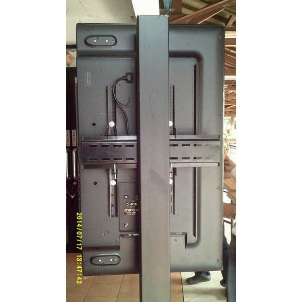 Floor Standing Bracket TV LCD kaki kupu kupu 1 Tiang